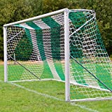 Donet Fußballtornetz 7,5 x 2,5 m Tiefe oben 0,80/unten 2,00 m, zweifarbig, PP 4 mm ø, grün/weiß