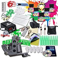 Generic Starter Tattoo Kit Machines USA Brand Inks Colors Top