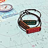 Best Man Gifts Customizeds - Coordinate wooden mens and ladies bracelet.Latitude Longitude customised Review