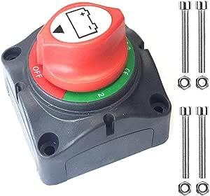 Qiorange 1 2 Both Off Batterie Trennschalter Batterieschalter 12 48v 200 1000a Akku Power Cut Off Schalter Für Marine Boot Caravan Kfz Fahrzeuge Type H 1 Stück Auto