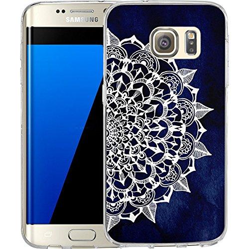 S7 Edge Hülle Schwarz Weiß Marmor Muster LAACO Kratzfest TPU Gel Gummi Weiche Skin Silikon Schutzhülle für Samsung Galaxy S7 Edge Galaxy Skin