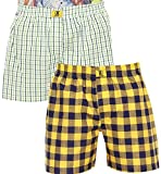 GlobalRang Men's Cotton Checks Boxer (Pa...