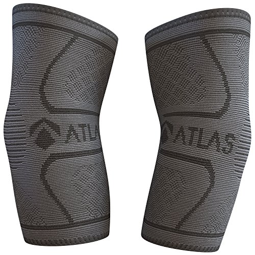 Atlas Ellenbogenbandage - Ideal Bandage für Tennisarm Golferarm Handball Kraftsport Bodybuilding & Fitness - Ellbogenbandage Unterstützung Bei Arthritis Sehnenentzündungen Gelenkschmerzen - Paar