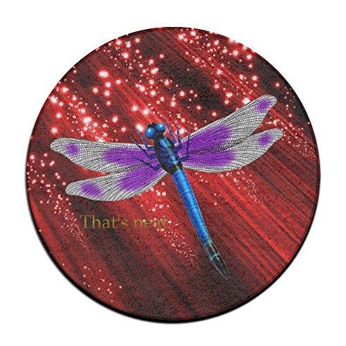 El color morado Dragonfly Forma Redonda Círculo Shaggy
