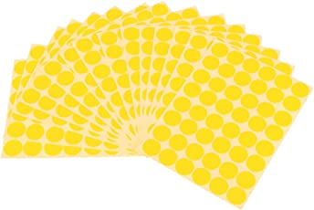 Imported 720Pcs 25mm Dots Sticker Round Circle Blank Labels Self Adhesive- Yellow