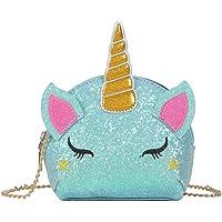 TXVSO Piccola Glitter Carino Unicorno Crossbody borsa a tracolla portafoglio borsa chiusura a cerniera per ragazze…