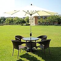 Sombrillas Patio de Mercado Parasol Exterior Jardín Mesa de Jardín Toldo Sol Aluminio Poste UV Protector