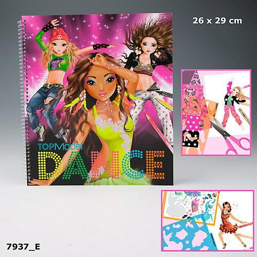 Depesche 7937 TOPModel DANCE Malbuch mit Sticker Top Model Hayden Nyela Christy