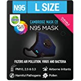 Dettol Cambridge N95 Mask for Protection from Virus, Bacteria, Pollution – Reusable, Washable, with Breathing Valve…