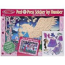 Peel & Press Sticker by Number - Mystical Unicorn: Peel & Press Sticker by Number - Mystical Unicorn