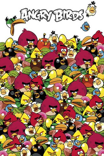 empire-535139-angry-birds-pile-up-games-poster-oiseaux-vert-porcs-maxi-poster-61-x-915-cm