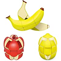 Adichai Fruit Shape Apple, Lemon, Banana 3x3 Speed Magic Cube Toy Magic Puzzle Stress Relief Cube Educational Creative…