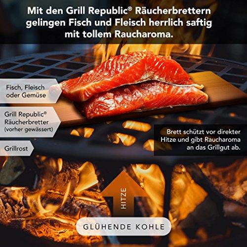 61K5iLlugYL - Hochwertige Räucherbretter zum Grillen für herrliches Raucharoma/Grillbretter aus reinem Zedernholz