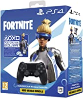 Sony PlayStation 4 DualShock 4 Wireless Controller (Black) - Fortnite Neo Versa Bundle