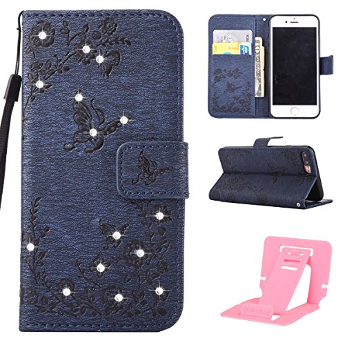 Ekakashop Custodia iphone 7 plus 5.5, Cover iphone 8 plus, Elegante borsa Custodia in Pelle Protettiva Flip Portafoglio libro Case Cover per Apple iphone 7 plus/iphone 8 plus 5.5 pollici con Carte Sl C#12
