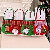 Sacchetti di regalo di Natale, 4 pc natale di Babbo Natale modello di armenti dell'albero di caramella, hanging ornamenti Borsette sacchi di regalo per le decorazioni del partito dell'albero di Natale