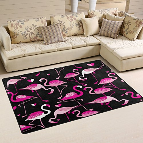 naanle animal flamingos non slip area rug for living dinning room bedroom kitchen 100 x