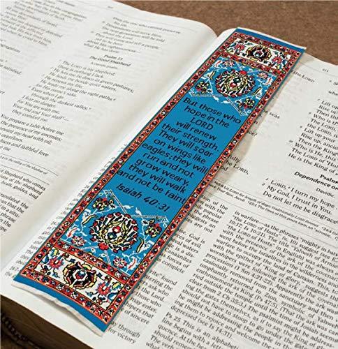 Lesezeichen, christliches Motiv, mit gewebtem Teppich (Teppich Lesezeichen)