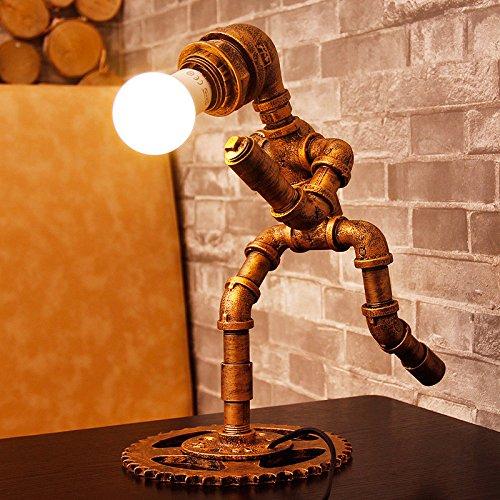 lampes-lampes-retro-robot-creative-330300210mm-de-conduites-deau