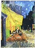 Fridolin Brillenputztuch Van Gogh-Café de Nuit, Stoff, Mehrfarbig, 18x12.5x1 cm