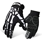 LERWAY Guanti Moto MTB Bike Accessori Moto Guanti da Ciclismo Antiscivolo a Dito Pieno per Moto Sportive all'aperto Monster Creative Skeleton Gloves