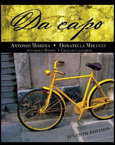 Student Activities Manual for Moneti/Lazzarino's Da capo by Annamaria Moneti (2010-01-01)