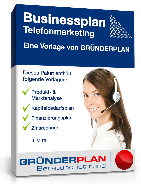 Businessplan Telefonmarketing von Gründerplan [Zip Ordner]