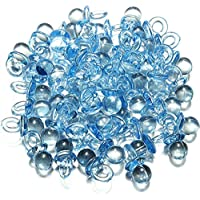 Gemini_mall® Pack of 50pcs Baby Shower Party Favours Decorations Clear Mini Pacifiers