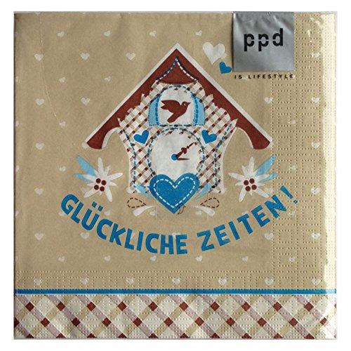 Servietten Papierservietten 20 stk / Päckchen Adleheid Glückliche Zeiten (Glücklichen Servietten)