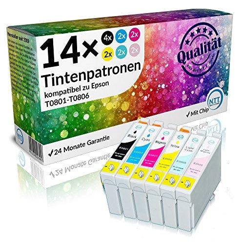 Preisvergleich Produktbild N.T.T.® - 14x Stück kompatible XL Druckerpatronen / 2 Sets + 2 schwarze geschenkt