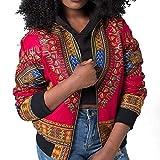URSING Damen Mantel Mode Lange Ärmel Afrikanisch Drucken Dashiki Kurze  Jacke Outwear mit Stehkragen Freizeitjacke Übergangsjacke Bomberjacke  Baseballjacken ... b562e3cf3d