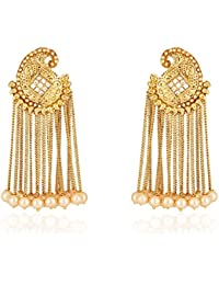 Shining Diva Fashion Jewellery Gold Plated Stylish Fancy Party Wear Jhumka Jhumki Traditional Earrings For Women...