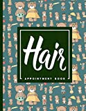 Hair Appointment Book: 7 Columns Appointment Desk Book, Appointment Scheduler, Daily Appointment Scheduler, Cute Teddy Bear Cover