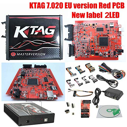ECU Herramienta de Programación Unlimited Token, KTAG Firmware V7 020  Software V2 23 ECU Unidad de Programación versión Master, rojo