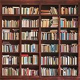 YongFoto 3x3m Vinile Sfondo Fotografico Scaffale pieno di libri Fondale Foto Festa Bambini Boby Nozze Adulto Partito Studio Fotografico Puntelli