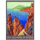 Editions Clouet 50227 - Affiche Touristique 50x70 cm PLM - Calanche de Piana - Corse