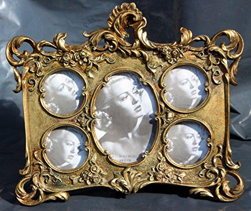 Bilderrahmen 5fach 29,5x24 Antik Gold Gothic Jugendstil Gotik alt Geschenk #437