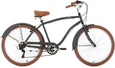 KS Cycling Herren Fahrrad Beachcruiser Cruizer, anthrazit, 26, 757B