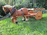 Pferd Klein mit Wagen Dekofigur Gartendekoration