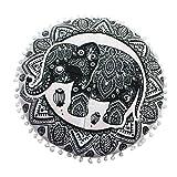 LuckyGirls Kissenbezug 43 x 43 cm Indische Mandala Boden Kissen runde böhmische Kissen Abdeckung (J)