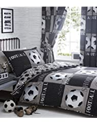 Shoot Football Housse de couette et taie d'oreiller de lit, coton Polyester, gris, Single