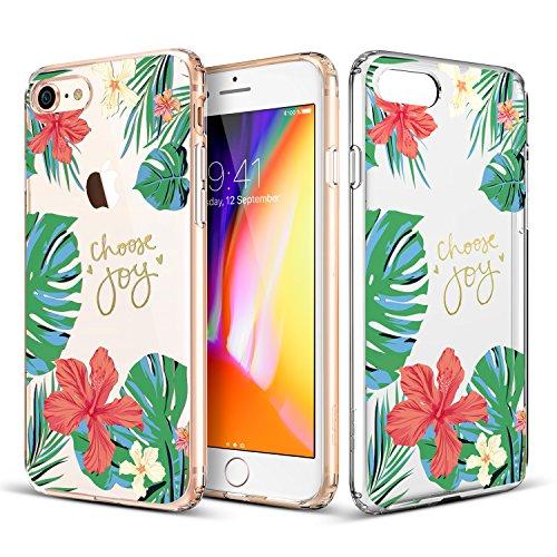 ESR iPhone 8 Hülle, iPhone 7 Hülle, [Weiche TPU Rahmen, Hartem PC Rückdeckel] Kaktusmotiv Schutzhülle für Apple iPhone 8/7 4.7 Zoll 2017 Freigegeben. (Kaktus) Hibiskus