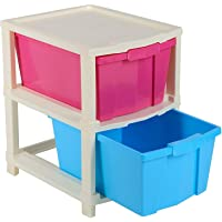 HROY 2 Layer Modular Drawer, Virgin Plastic for Home, Office, Parlor, School, Doctor, and Kids   37 x 33 x 28 cm   Multi…