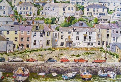 Mevagissey Kunstdrucke, von Cornwall ein Aquarellbild von Alex Pointer