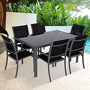 Miadomodo salotto giardino set tavolo con sedie esterno for Set giardino offerte