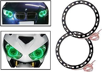 Vheelocityin Green Angel Eyes SMD LED Ring Light Devil Light (set of 2)