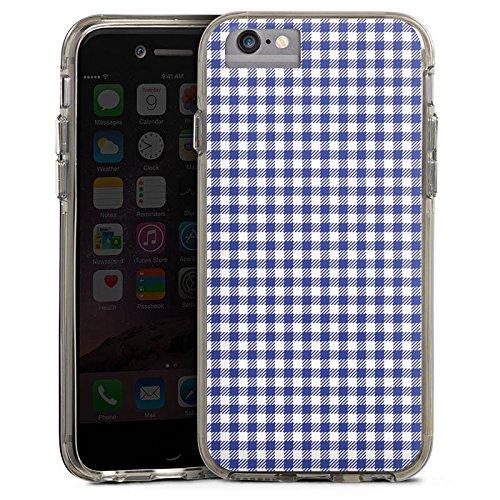 Apple iPhone X Bumper Hülle Bumper Case Glitzer Hülle Karo Picknick Oktoberfest Bumper Case transparent grau