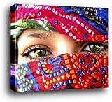1art1 Frauen Poster Kunstdruck als Blockbild - Arabische Augen (50 x 40cm)
