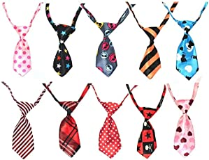 Finbar Dog & Cat Collar Grooming Bow Tie Necktie Clothes- 1 Piece Color May Vary