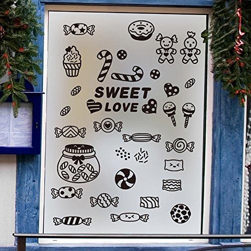 y Shop Snack Shop Glas Fenster Aufkleber Aufkleber ()